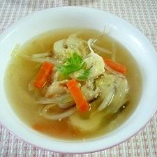 ちくわともやしの洋風スープ