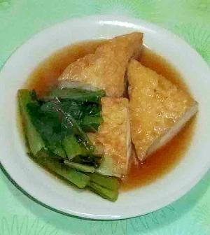 小松菜と厚揚げ煮