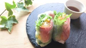 お野菜たっぷり☆生ハムの彩り生春巻き