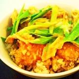 ささみ天ぷらの卵とじ丼