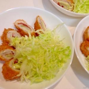 セロリと梅肉の豚巻きフライ