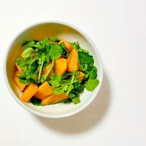 柿とクレソンの簡単サラダ