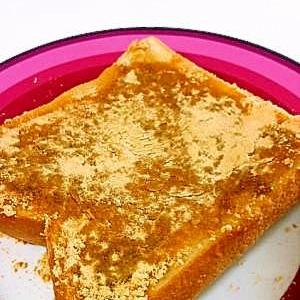 簡単朝ごはん☆シナモンきなこトースト