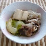 簡単、豚肉豆腐