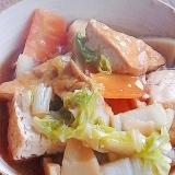 シリコンスチーマーで厚揚げと白菜のうま煮
