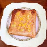 めんたいマヨネーズとカリフラワーのトースト