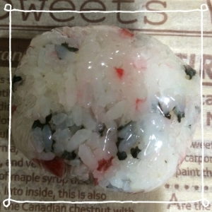 カリカリ梅&海苔おにぎり☻