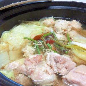 寄せ鍋つゆで*鶏山菜鍋