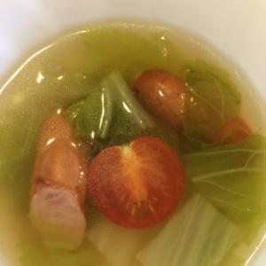 キャベツとプチトマトのスープ