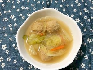 肉だんごと白菜と春雨のスープ