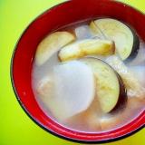 カブと茄子油揚げの味噌汁