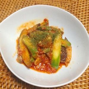アスパラとチキンのトマト煮