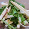 長芋とベビーリーフのわさびドレッシングサラダ