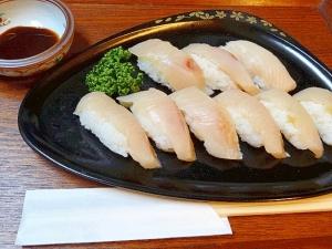 ヒラマサの昆布〆&「握り寿司」