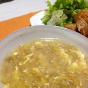 ふわふわ玉子のスープ