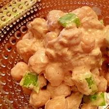 ひよこ豆とツナの簡単サラダ
