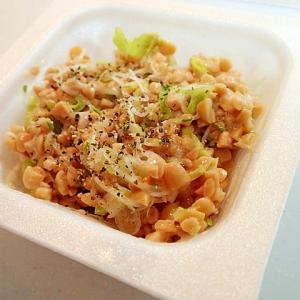 サラダ菜とアルファルファのひきわり納豆