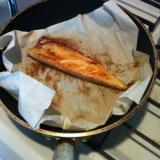 冷凍した干物をフライパンで