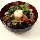 大葉なめこ素麺