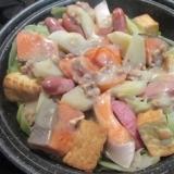 タジン鍋で蒸し焼き!鮭のちゃんちゃん焼き