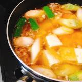 芯からあったまる☆チゲ風スープ