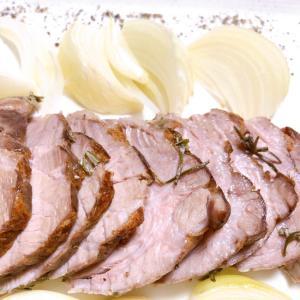 豚肩肉のローストポーク・塩ハーブ焼き[低温調理]
