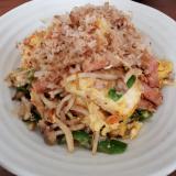 スパムで作るモヤシと豆腐のチャンプルー