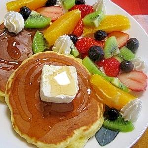 フルーツたっぷり!パンケーキ