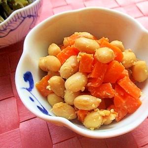 大豆と人参の甘味噌炒め