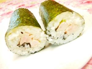 ❤蒸し鶏ささみと大葉と黒ごまの巻き寿司 ❤
