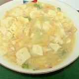 カニ缶と豆腐の卵あんかけ