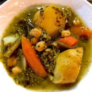 ひよこ豆入り野菜スープ*