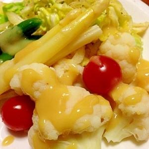 カリフラワー&アスパラの酢味噌サラダ