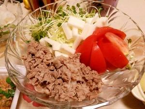 和牛牛肉のさっぱり冷しゃぶサラダ★