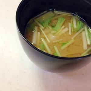 キャベツと水菜のお味噌汁