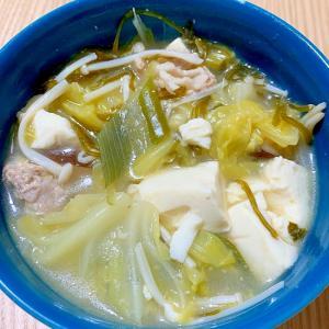 豆腐とキャベツの和風スープ