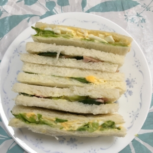 ハムレタス&玉子レタス(*^^*)サンドイッチ☆