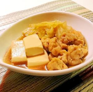 鶏肉と白菜と豆腐の和風煮