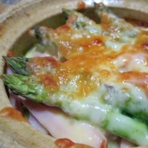 アスパラとベーコンのチーズ焼き