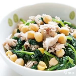 ひよこ豆とほうれん草の煮込み