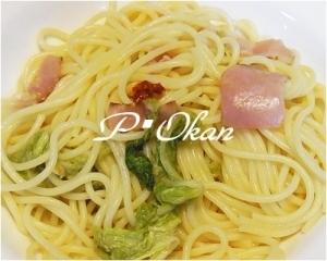 白菜入りペペロンチーノ