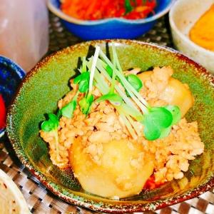 里芋と鶏挽き肉の煮物♪