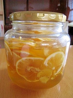 レモンと生姜の蜂蜜シロップ