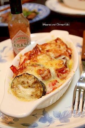 ズッキーニと茄子のトマトチーズ焼き