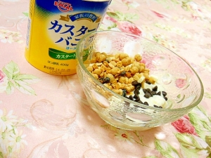 ピリリ❤大豆グラノーラとチョコとバニラヨーグルト❤