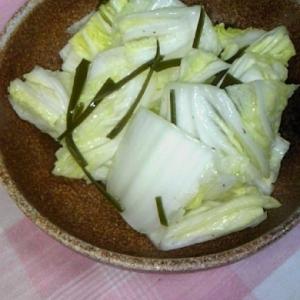 簡単!箸休めに♪白菜のゆず漬け♪