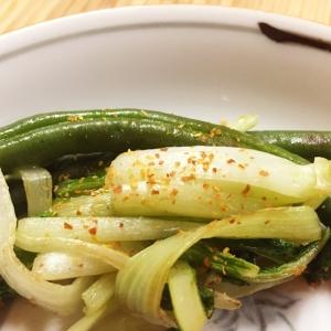 タイ菜といんげんの炒めもの