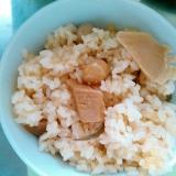 大豆と筍の炊き込みご飯