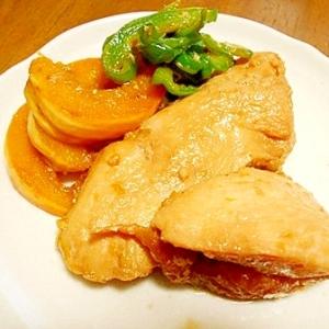 鶏むね肉とプッチーニかぼちゃとピーマンのソテー