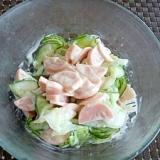 きゅうりと魚肉ソーセージのマヨ和え